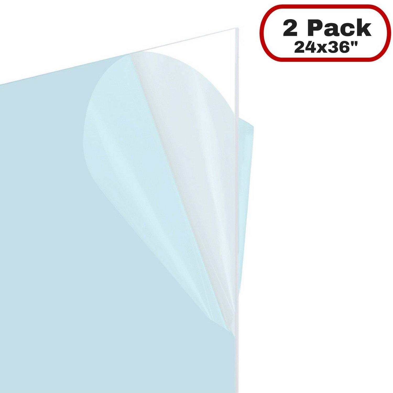 Amazon.com: Icona Bay Flexible Clear Plastic Sheet (24x36 inch, 2 ...