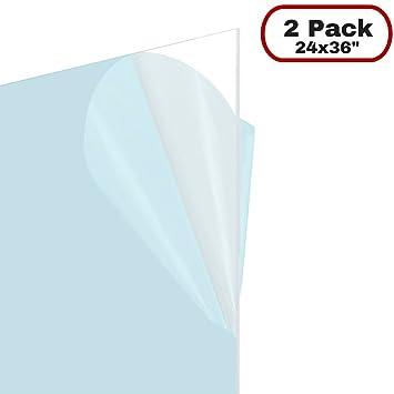 Amazoncom Icona Bay Flexible Clear Plastic Sheet 24x36 Inch 2