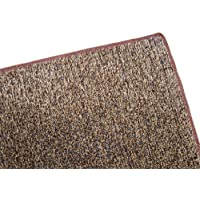 12X16 - BROWN / TAN 1/4 Thick - 8 oz. Artificial Grass Turf Carpet Indoor / Outdoor Area Rug. Premium Nylon Fabric FINISHED EDGES .UV-Protected - weather and Fade-resistant ,100% UV olefin. Light Weight Marine Backing. MANY SIZES and Shapes. Rectangles, Squares, Circles, Half Rounds, Ovals, and Runners.