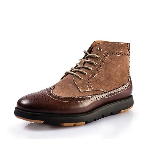 Tallada ayuda alta zapatos de Inglaterra/ de color que empareja la altura zapatos/Zapatos Casual hombres-A Longitud del pie=24.8CM(9.8Inch) rMm65mk