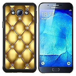 EJOOY---Cubierta de la caja de protección para la piel dura ** Samsung Galaxy A8 A8000 ** --Oro Diseño Diamante Bling