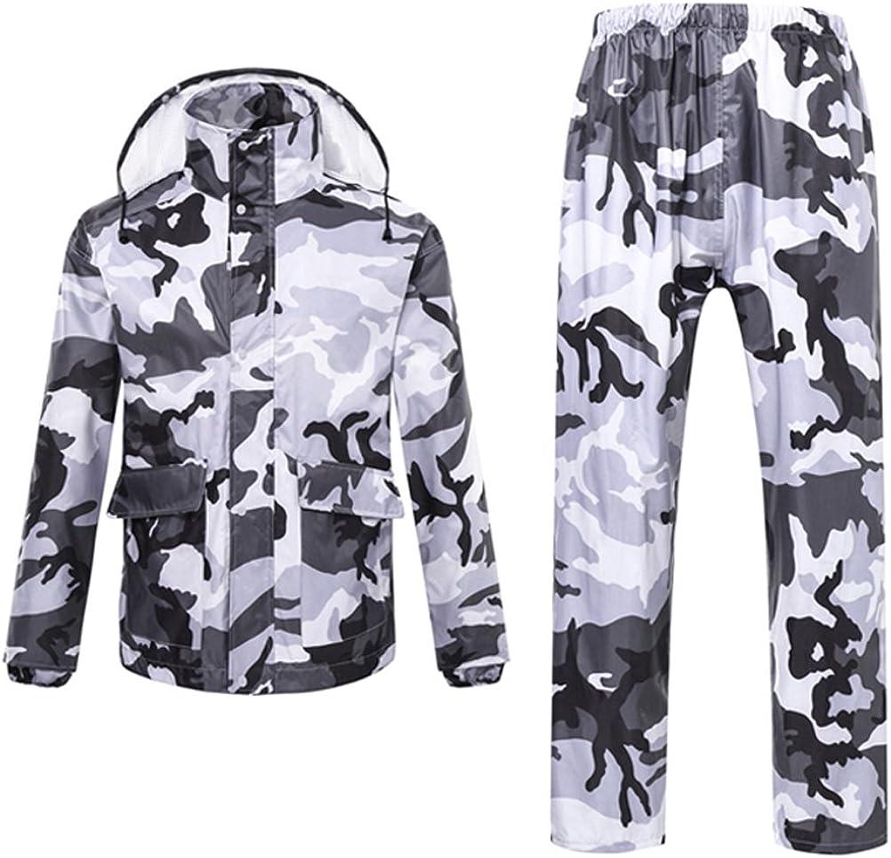 Zhuhaitf Raincoat Set Rainwear Mens Womens Water-Resistant Jacket /& Trousers