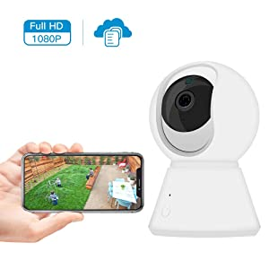 Kolaura 1080P FHD WiFi IP Camera, Home Security Surveillance Indoor Camera with 2 Way Audio Night Vision Motion Baby Crying Detection