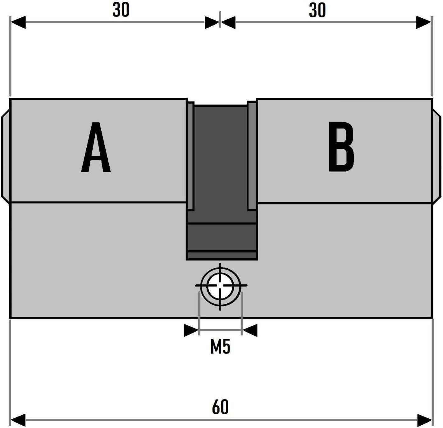 3x Profilzylinder 60mm 30//30 15x Schl/üssel T/ür Zylinder Schloss gleichschlie/ßend
