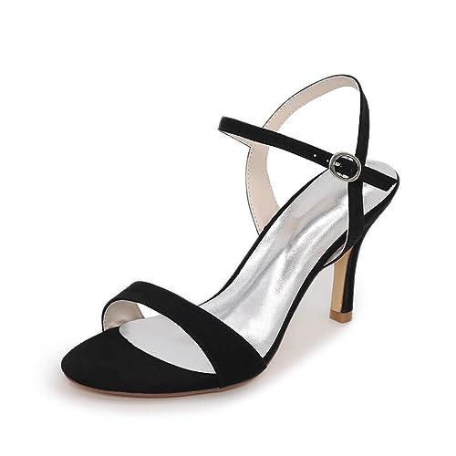 L@YC Mujer Sandalias Innovador Zapatos del Club Cuero Materiales Verano Boda Vestido Fiesta y