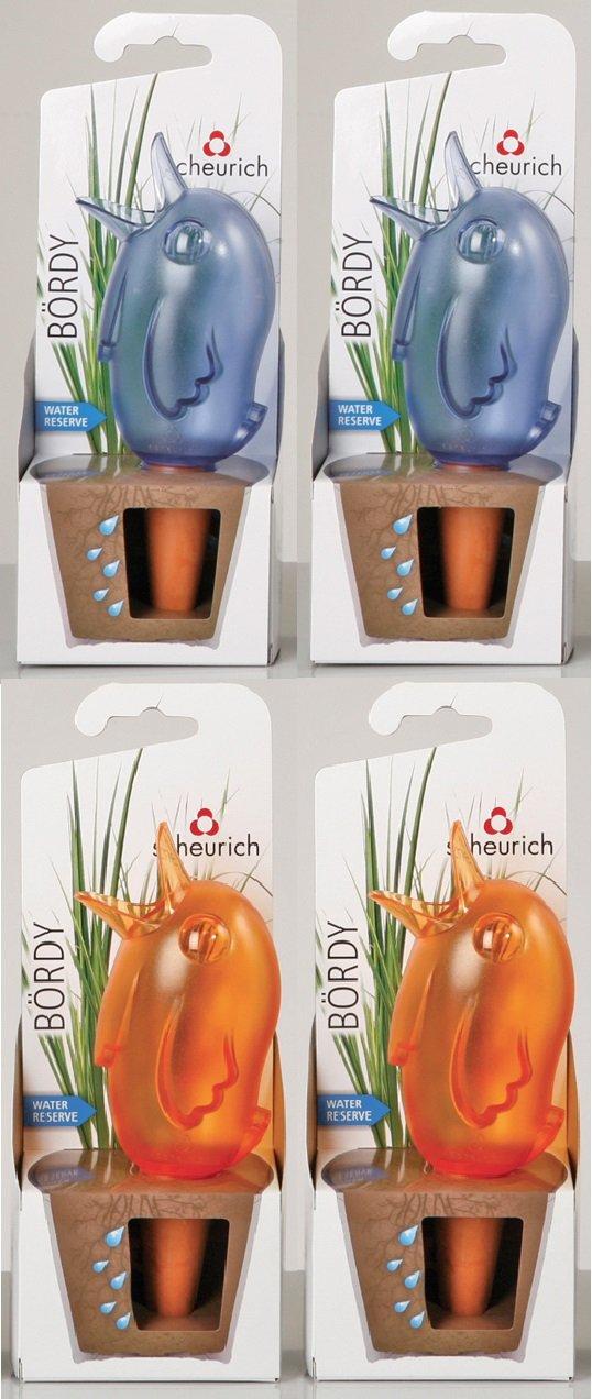 1 Scheurich B/ördy M blau /& orange 220 ml H/öhe 20 cm Bew/ässerungshilfe Wasserspeicher Wasserspender