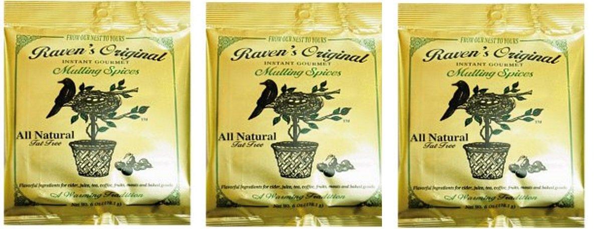 Raven's Original Mulling Apple Cider Spices - 6 Oz Package (Pack of 3)