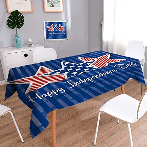Indoor/Outdoor Spillproof Tablecloth Happy Independence Day Star Card in Vector Format. Wedding Restaurant Party Banquet Decoration 60