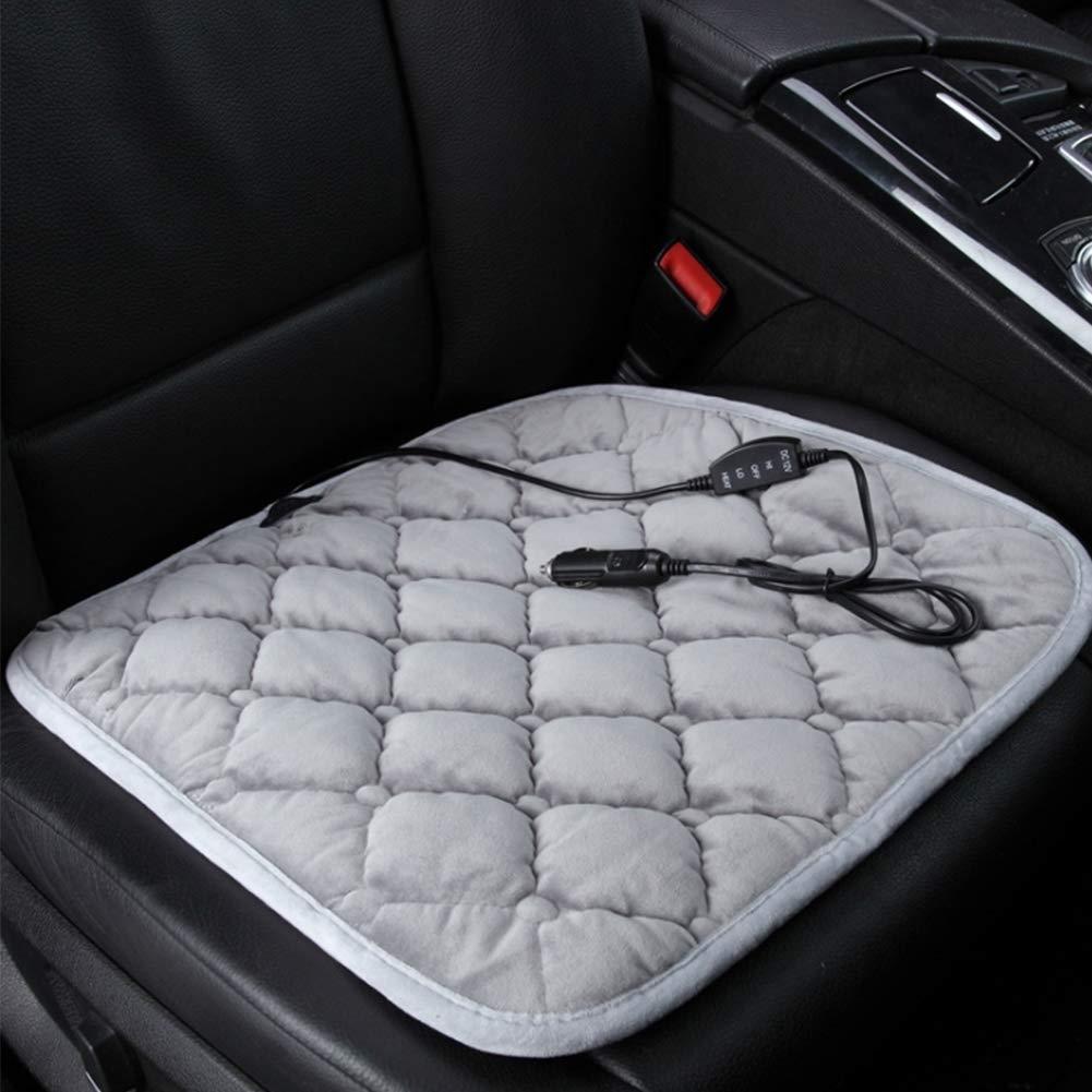 Auto erhitztes Sitzkissen Beheizte Autositz 12V Beheizte Autositzbez/üge Platz Pad mit Temperaturregler 45x45cm