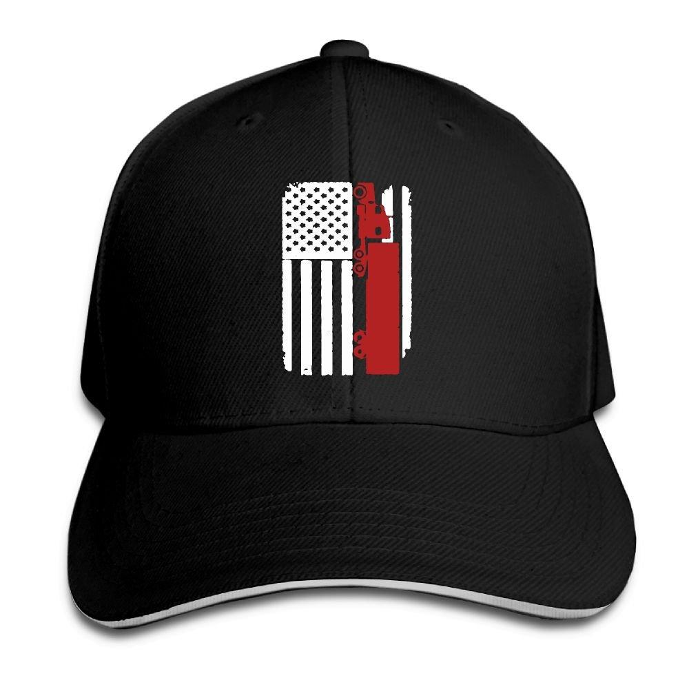 Men   Women Custom Truck Driver Trucker - US American Flag Golf Hat Plain  Adjustable Baseball Cap at Amazon Men s Clothing store  6fd2712d6927