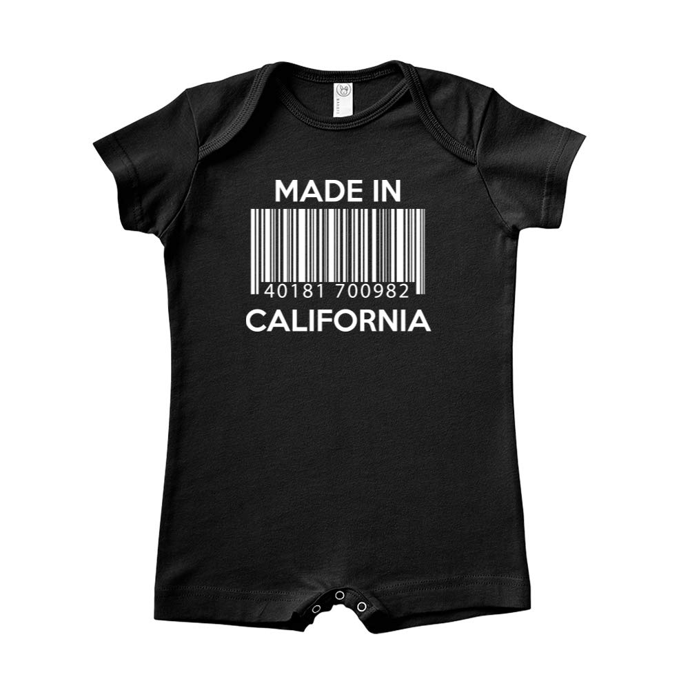 Baby Romper Made in California Barcode