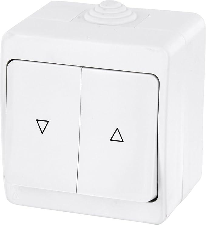 s/érie G1 blanc pur insert encastr/é Boutons interrupteur volet roulant couvercle tout-en-un cadre