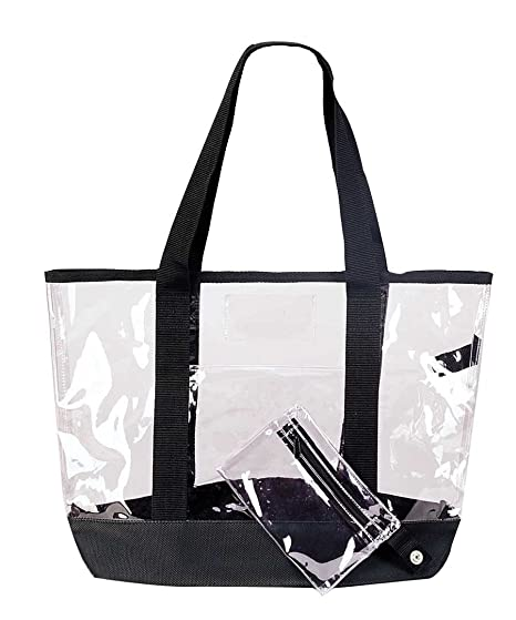 Image Unavailable. Image not available for. Color  20 quot  Large Clear  Tote Bag ... fb2f26cd5dce1