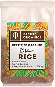 Pacific Organics Organic Rice Brown Medium, 750g