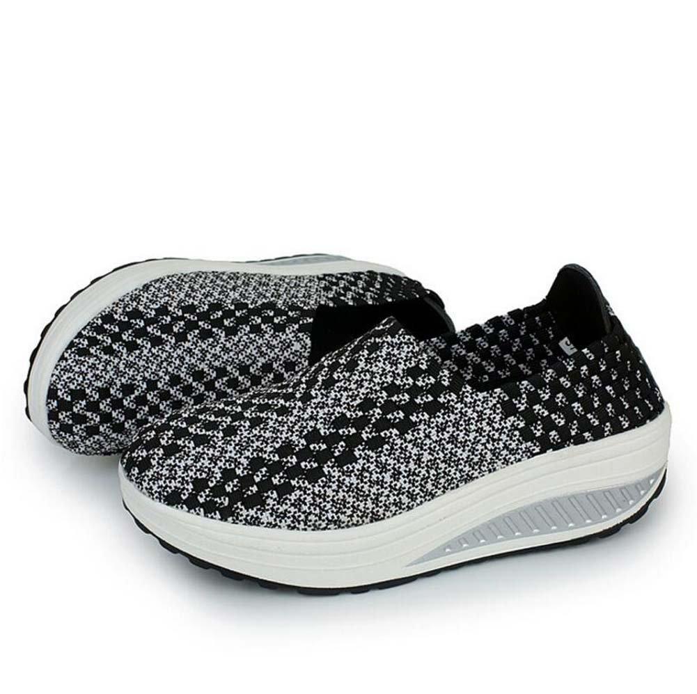 Zapatillas Casual para Mujeres Zapatos Deportivos de Primavera y Verano Zapatos Deportivos de Suela Gruesa Zapatillas Deportivas Running Talla 35-40 39 EU Negro