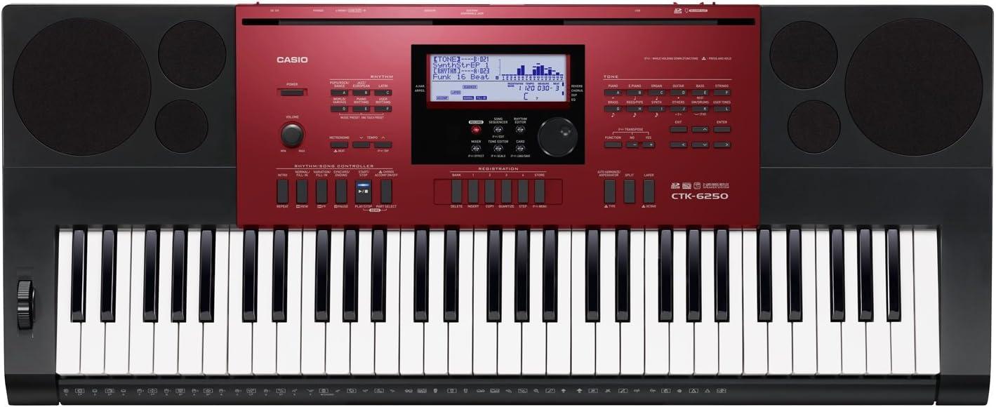 Casio Tastiera CTK-6250 61T 48P.200RSd/Usb/Ahl