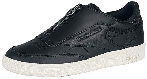 5ed89671e2f3e8 Reebok Club C 85 Zip M Sneakers Black-White  Amazon.co.uk  Shoes   Bags