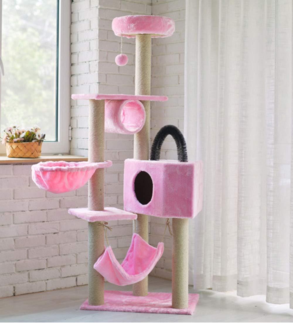 Amazon.com: Yuwen Pet Club Cat Tree -Sisal cat Tree - Large cat ...