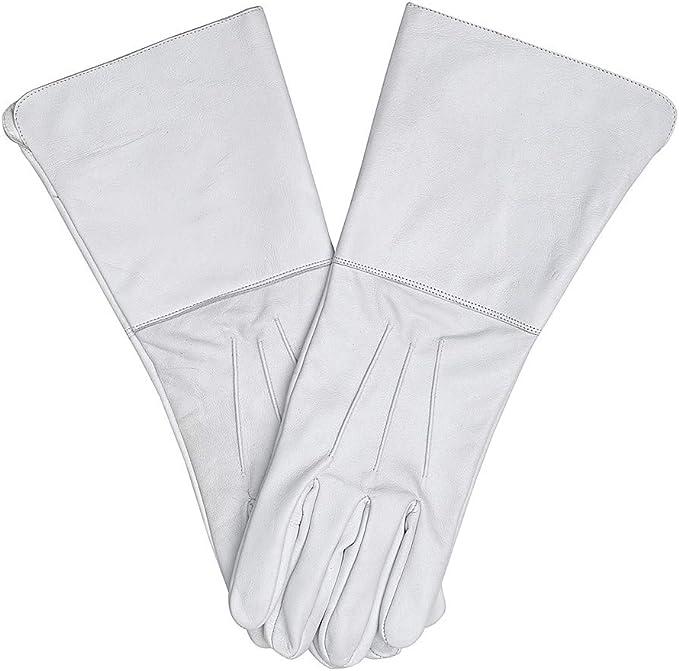 Parade March Leather Gloves Long Arm Cuff Men/'s Medieval Renaissance
