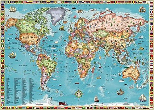 World map for kids laminated akros 9789871663057 amazon world map for kids laminated akros 9789871663057 amazon books gumiabroncs Choice Image