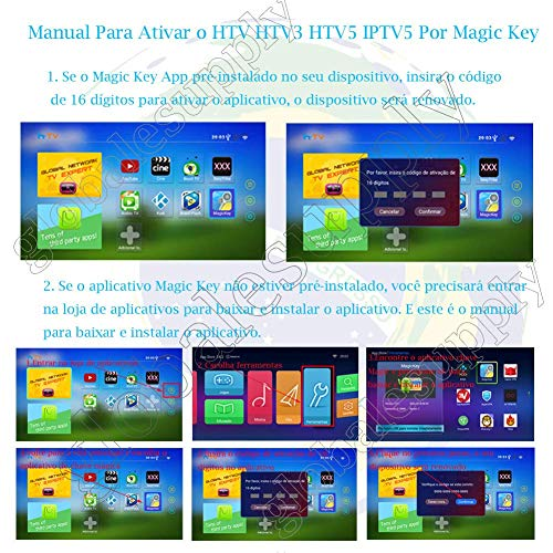 IPTV Brazil Renewal 16-Digit Yearly Renew Code for HTV 2 3 5 / A2 / A1 /  IPTV 5 6 / IPTV5+Plus Portuguese TV Box Subscription Service Valid for 13