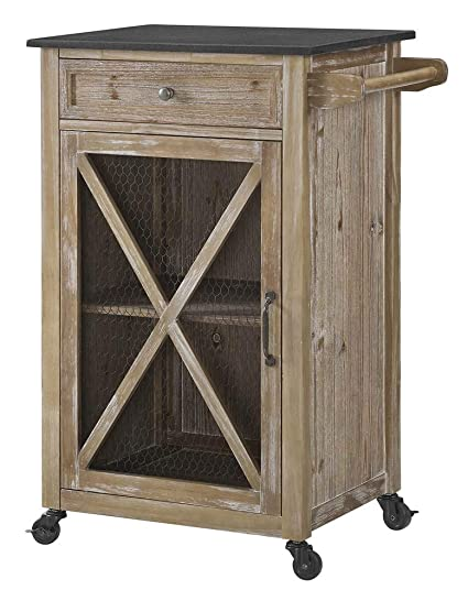Amazon.com: Linon Plantation Kitchen Cart in Rustic: Kitchen ...