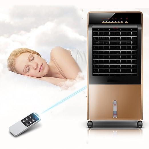 LJHA Caliente y fría máquina de calefacción de doble uso Ventilador de control remoto Agregue refrigeración por agua pequeño aire acondicionado 34 * 82cm: ...