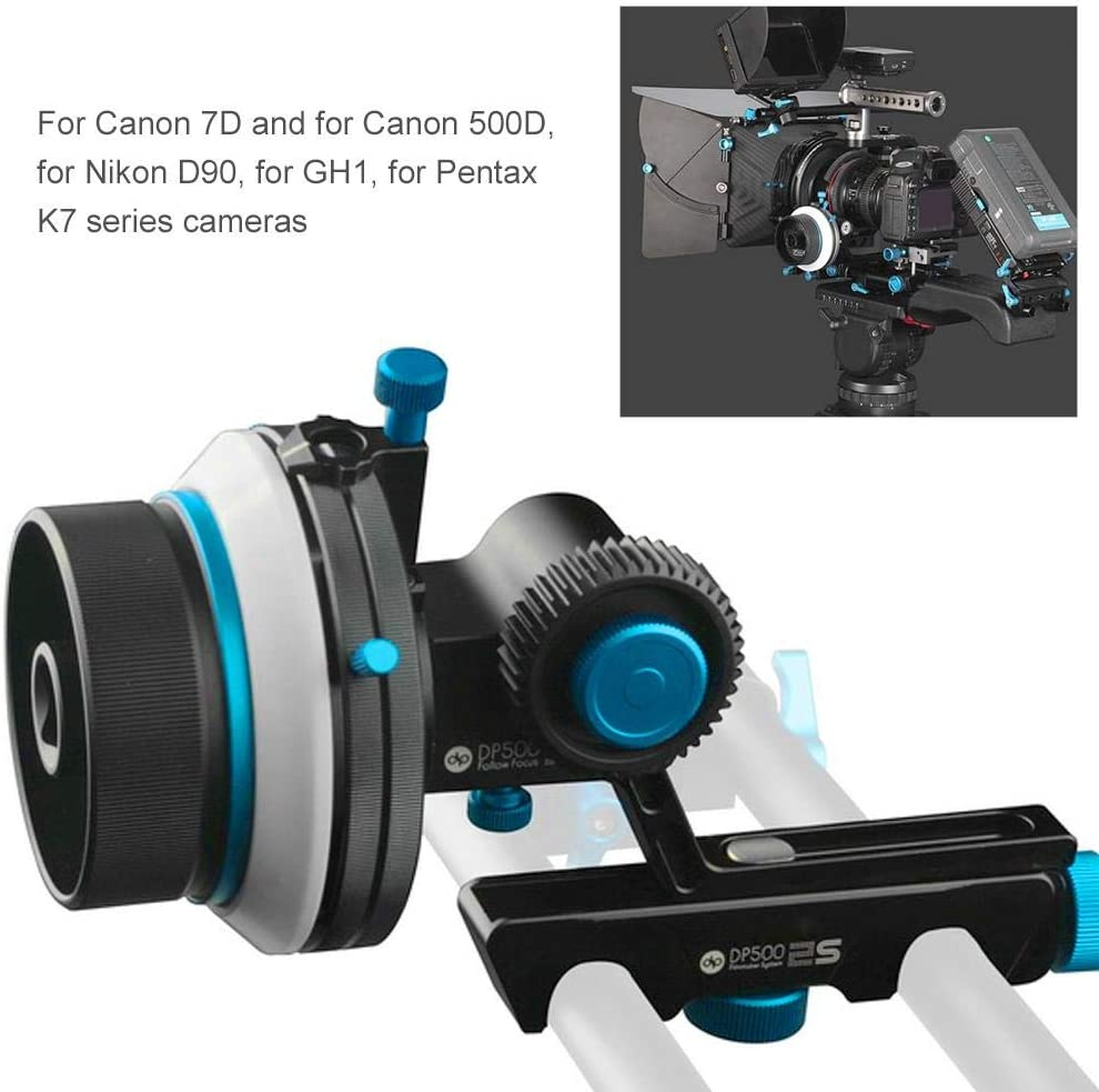 Oumij Follow Focus,FOTGA DP500II-S AB Quick-Mounted Dampen Follow Focus Photography Accessory for Canon 7D 500D