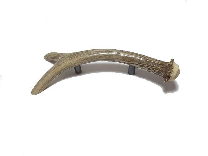 Lovely Real Deer Fork Antler Handles, Antler Drawer Pulls, Cabinet Hardware, Deer  Antler By