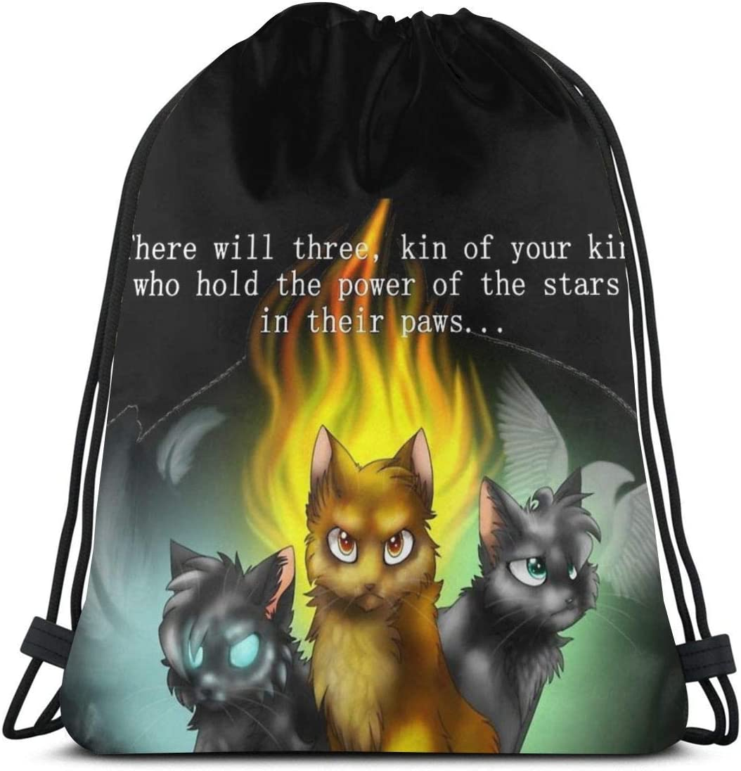 Warrior Cats Prophecies Sport Bag Sac de Sport Sac /à Dos avec Cordon de Serrage