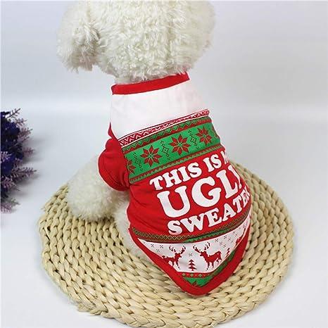 Smoro Ropa para Perros Mascotas Traje de Navidad Ropa de Dibujos Animados Lindo para pequeños Trajes