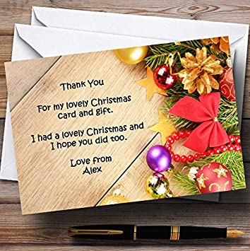 Personalised Christmas Xmas Thank You Cards Postcard Including Envelopes 13