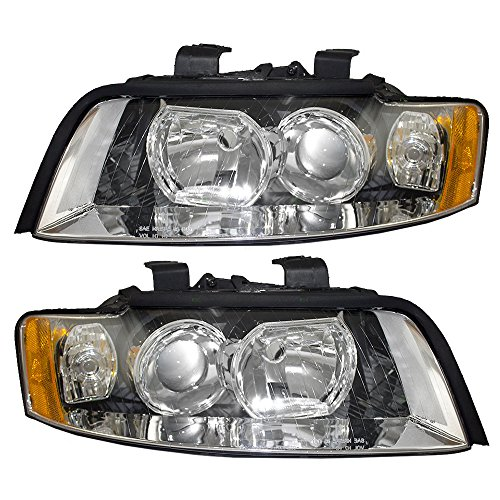 Driver and Passenger Halogen Headlights Headlamps Replacement for Audi 8E0 941 029 F 8E0 941 030 F - Headlight Audi A4 Assembly
