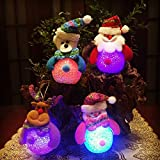4 pack 2017 Best Funny Colorful LED Gold Christmas Trees Vintage Blend Lights Set Ornament Accessories Cute Christmas for Kids lights(LED)