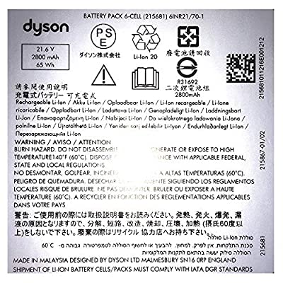 Dyson Replacement Vacuum Battery - V8 Units, Part no. 967834-05