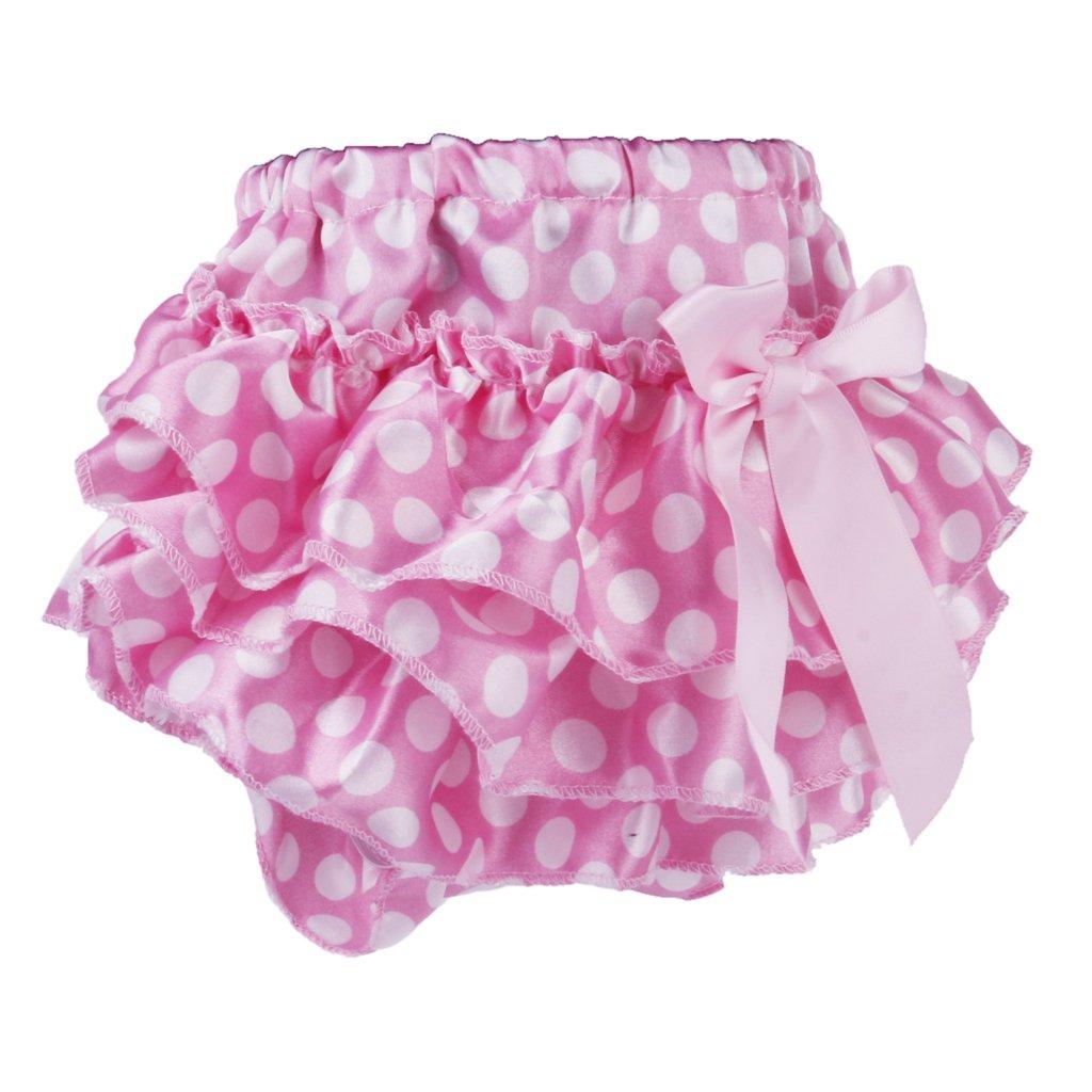 B Baosity Baby Infant Girl Ruffle Bloomers Mutandine Bicchierini Copri Pannolini Coprispalle 0-1 Anni