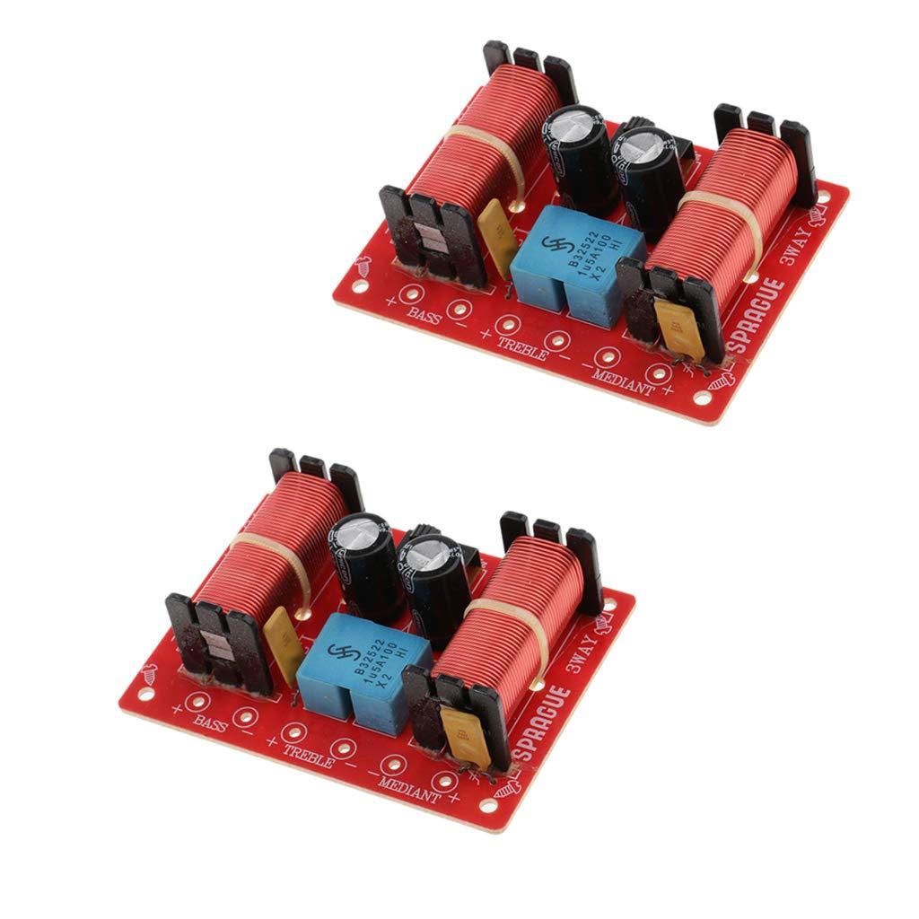 KESOTO Divisor de Frecuencia de Audio de 3 Vías de Difusor Acústico DIY Alto 160 Vatios 48 Hz ~ 20 kHz