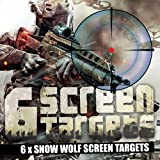 6 x Screen Targets *SNOW WOLF PACK* Contains: 6 x Snow Wolf Designs