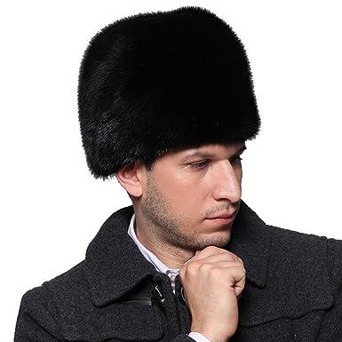 MINGXINTECH mens read mink fur headband winter warm outdoors cap snow  skiing wear d1797d98a3d