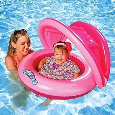 Sun Smart Grow with Me 2-in-1 Sun Shade Baby Boat and Swim Trainer for Girls: Toys & Games