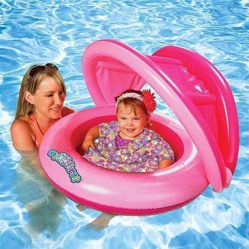 Sun Smart Grow with Me 2-in-1 Sun Shade Baby Boat and Swim Trainer for Girls by ()
