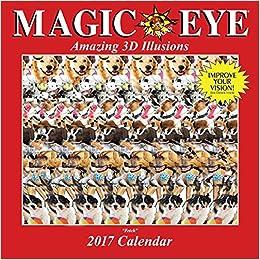 magic eye 2017 wall calendar magic eye inc 0050837353817 books. Black Bedroom Furniture Sets. Home Design Ideas