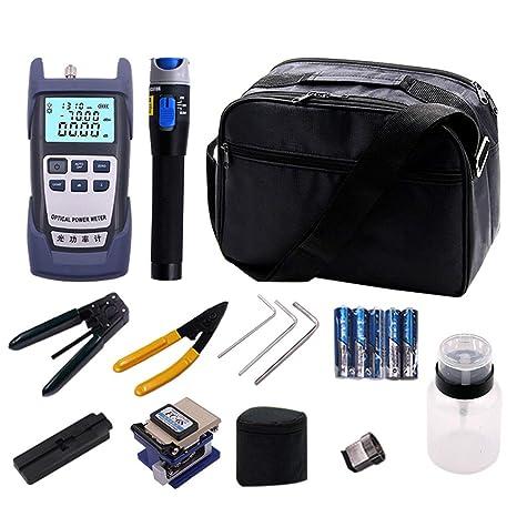 Heaviesk Conjunto de Herramientas de refrigeración de Fibra óptica Cable de Cuero Cable óptico medidor de