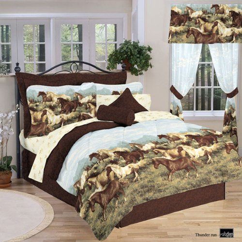 Thunder Run Horses Bed in a Bag Set, Queen