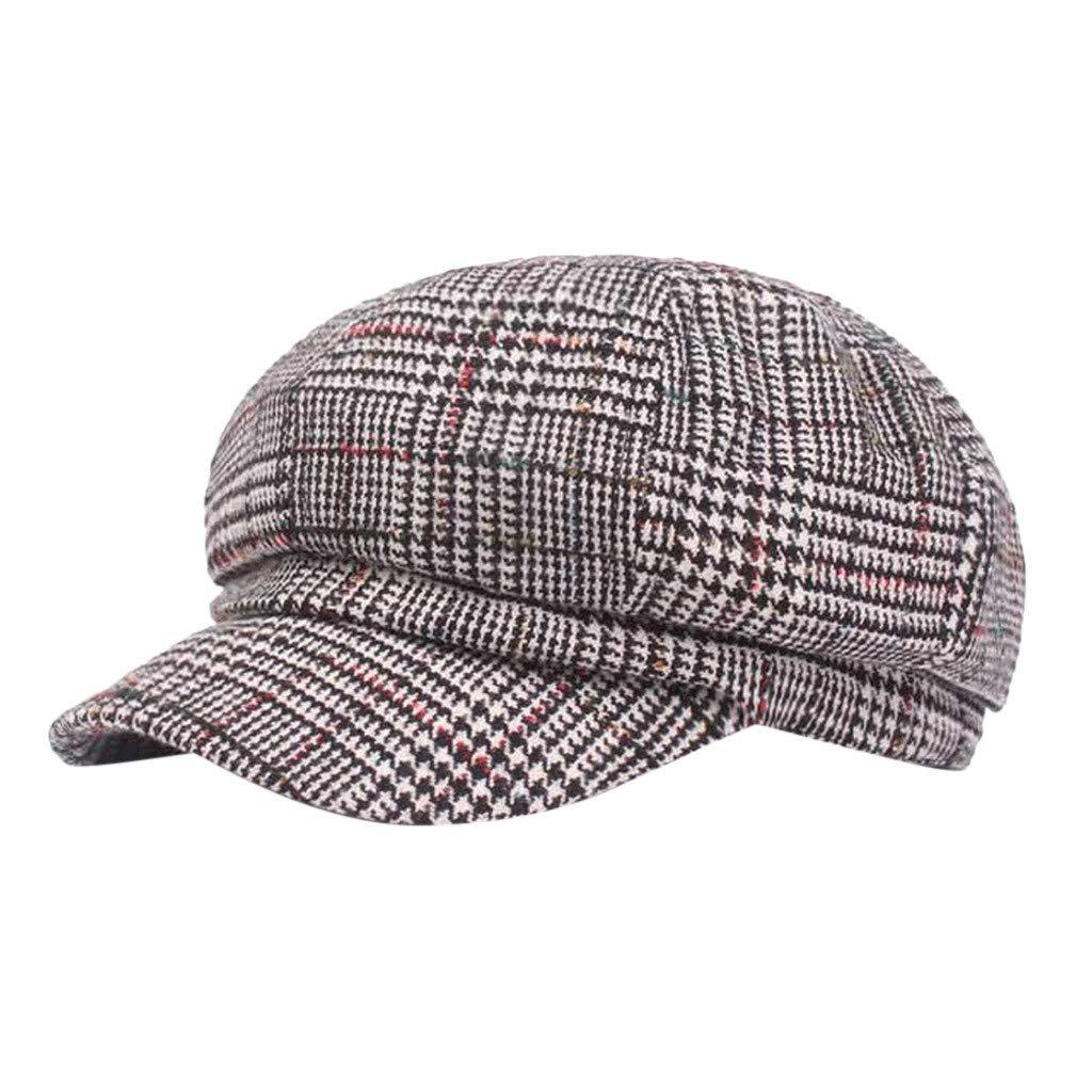FEDULK Unisex Newsboy Gatsby Classic Retro Cap Golf Cabbie Driving Women Men Beret Hat(B, One Size)
