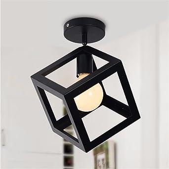 Europa estilo vintage accesorios de luces LED lámpara de techo para sala-cocina industrial para