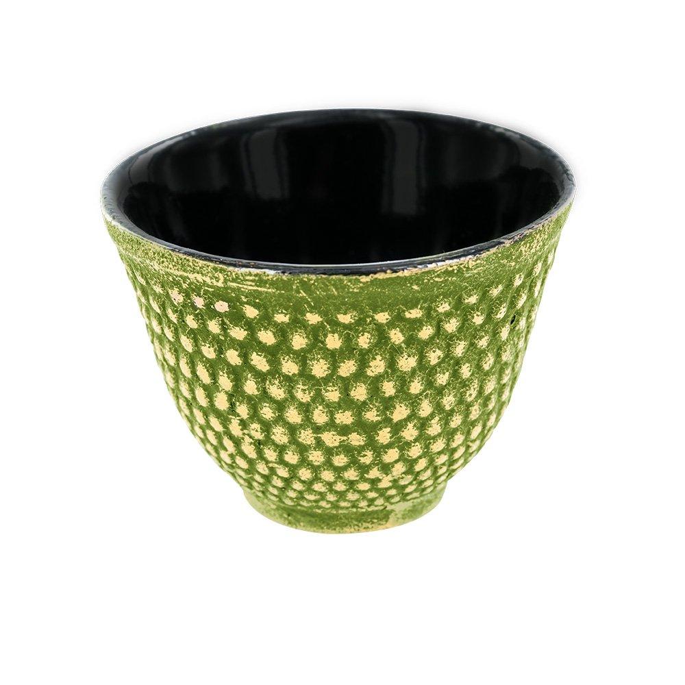 Aromandise TAS2 Tasse, Fonte, Vert/Doré, 7,2 cm 00003453