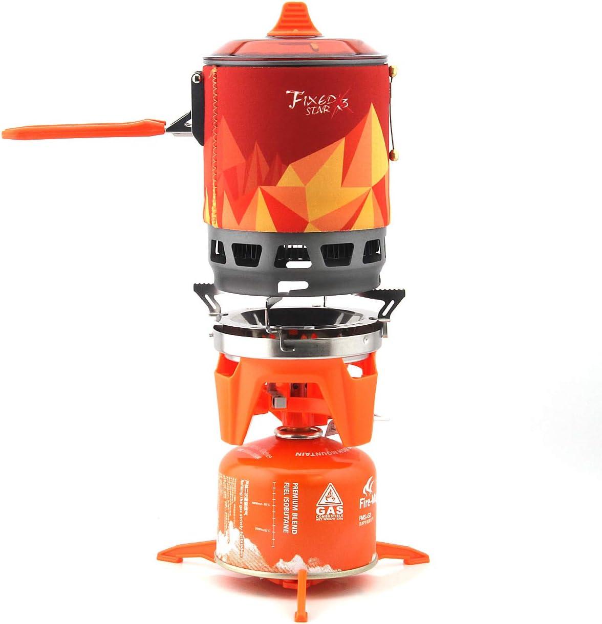 Fire-arce X2 X3 - Sistema de cocina personal para exteriores, senderismo, camping, horno, estufa de gas portátil, 1500 W, 0,8 l, 600 g (X3-OR)
