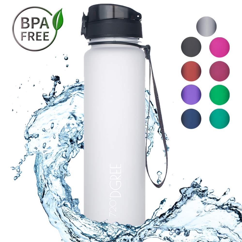 """Sportflasche BPA-Frei Schule 1L Wasserflasche Auslaufsicher Wasser Sport Fahrrad 720/°DGREE Trinkflasche /""""uberBottle/"""""""
