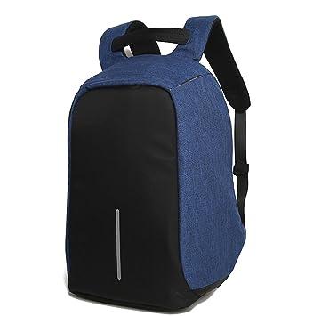 ... Mochila para Computadora Portátil Mochila Antirrobo Bolsa De Viaje Resistente Al Agua De Nylon Mochilas Universitarias (Color : Blue): Amazon.es: ...